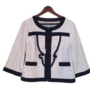 Anthropologie Tabitha White Lace Jacket Size Large